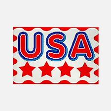 Go USA Rectangle Magnet