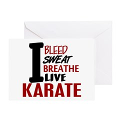 Bleed Sweat Breathe Karate Greeting Card