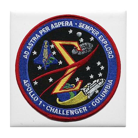 Space Flight Memorial Tile Coaster