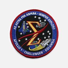 Space Flight Memorial Button