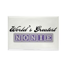 World's Greatest Nonie Rectangle Magnet