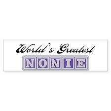 World's Greatest Nonie Bumper Bumper Sticker