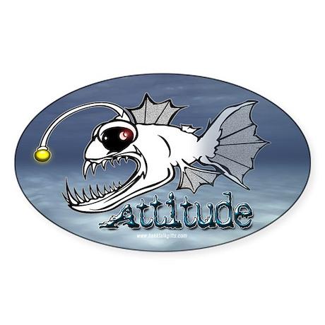Attitude... Oval Sticker
