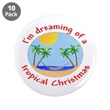 """Tropical Christmas 3.5"""" Button (10 pack)"""