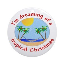 Tropical Christmas Ornament (Round)