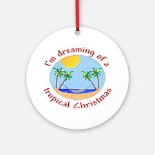 Tropical Christmas Ornament (Round)