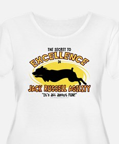 Secret Jack Russell Agility Women's Plus Size Tee