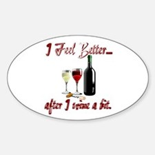 Wine a bit Oval Decal
