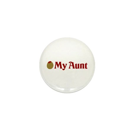 Olive (I Love) My Aunt Mini Button (10 pack)