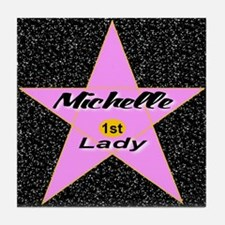 Michelle Obama 1st Lady Star Tile Coaster