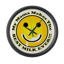 Best Milk Ever Large Wall Clock