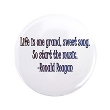 "Ronald Reagan quote 3.5"" Button"