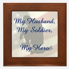 My Husband, My Hero Framed Tile