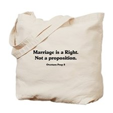 Marriage is a Right Tote Bag