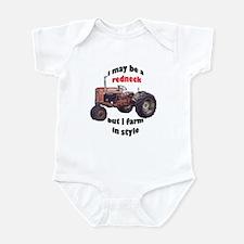 redneck tractor Infant Bodysuit