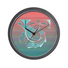 Turquoise Dawn Wall Clock