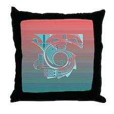 Turquoise Dawn Throw Pillow