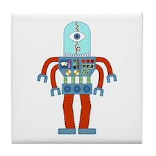 Scary Eyeball Robot Tile Coaster