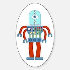 Scary Eyeball Robot Oval Decal