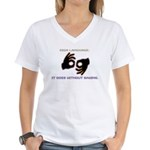 Sign Language: Women's V-Neck T-Shirt
