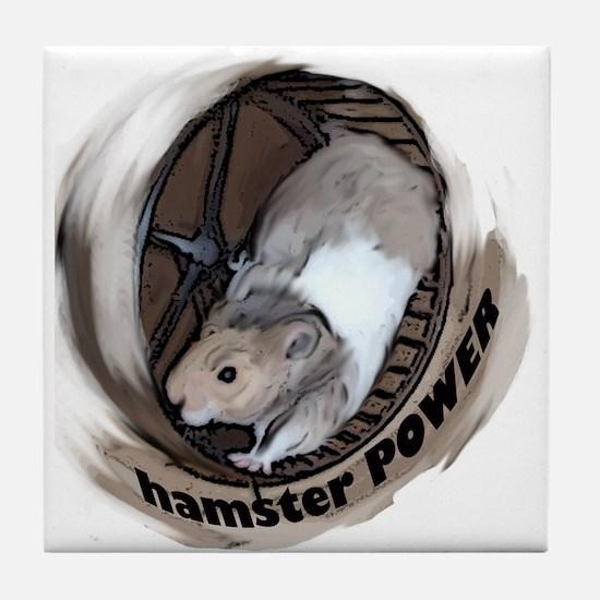 Hamster Power Tile Coaster