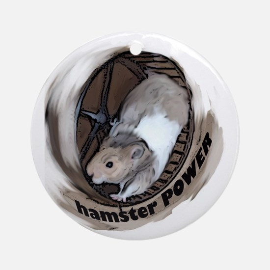 Hamster Power Ornament (Round)