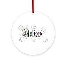 Autism Awareness - Medievel Ornament (Round)