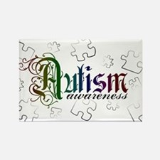 Autism Awareness - Medievel Rectangle Magnet