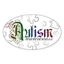 Autism Awareness - Medievel Oval Decal