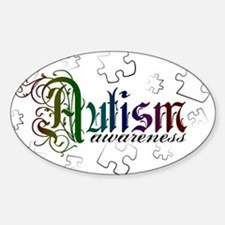 Autism Awareness - Medievel Oval Decal