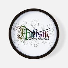 Autism Awareness - Medievel Wall Clock