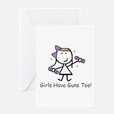 Exercise - Girls Guns Greeting Card