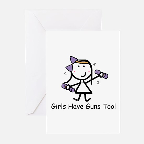 Exercise - Girls Guns Greeting Cards (Pk of 20)