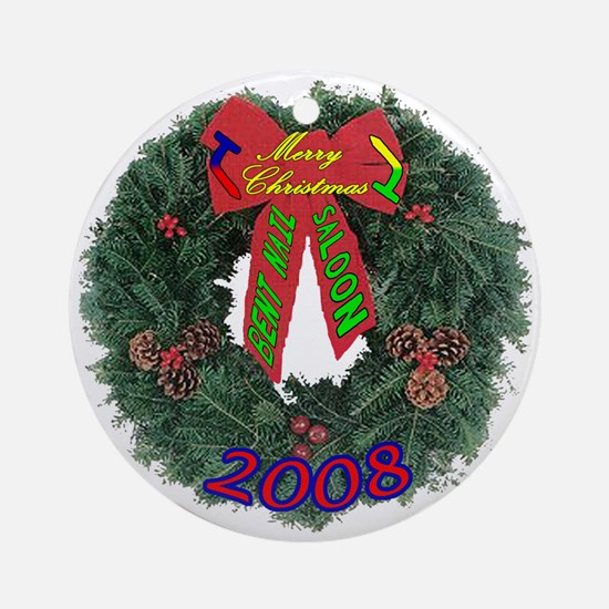 BNS Christmas 08 Ornament (Round)
