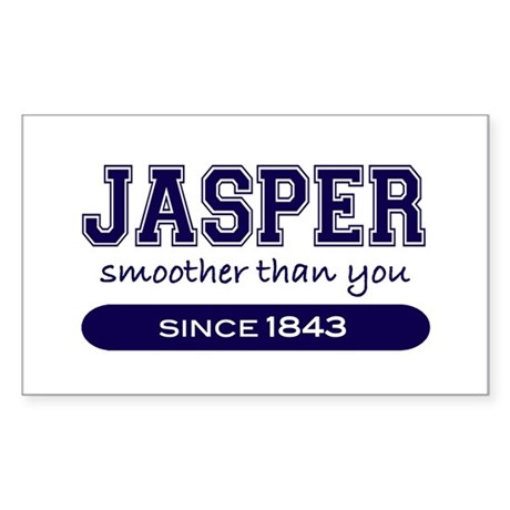 Jasper, Smoother Than You. Rectangle Sticker