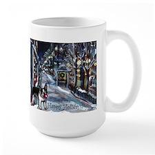 Boston Terrier Xmas Holiday Mug