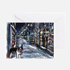 Boston Terrier Xmas Holiday Greeting Cards (Pk of