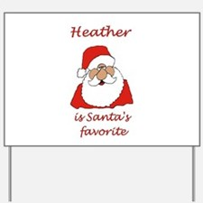 Heather Christmas Yard Sign