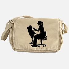 Female dentist Messenger Bag