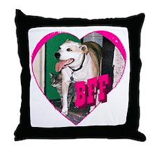 BFF-pink Throw Pillow