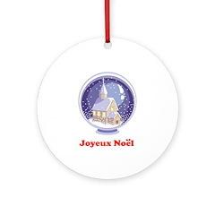 Joyeux Noel - Snowglobe Ornament (Round)