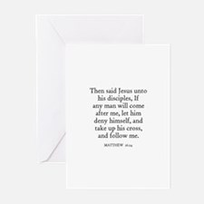 MATTHEW  16:24 Greeting Cards (Pk of 10)
