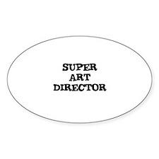 SUPER ART DIRECTOR Oval Decal