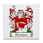 Shevtsov Family Crest Tile Coaster