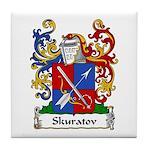 Skuratov Family Crest Tile Coaster