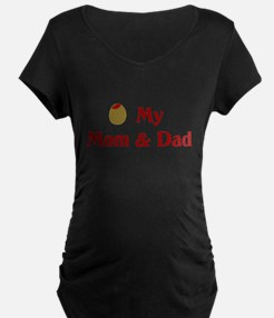 Olive (I Love) Mom and Dad T-Shirt