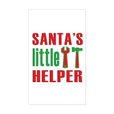 Santa's Little Helper Rectangle Decal