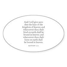 MATTHEW 16:19 Oval Decal