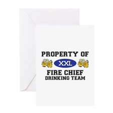 Property of Fire Chief Drinking Team Greeting Card