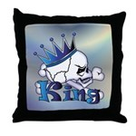 Skull King Throw Pillow